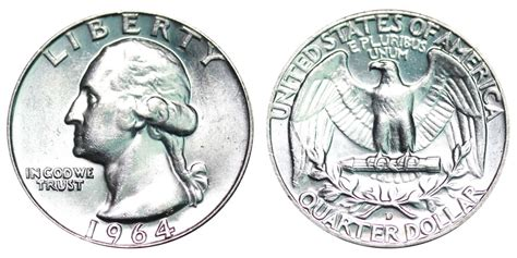 1964 d washington quarters silver composition value and