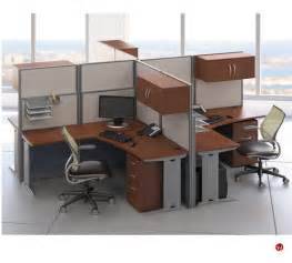 Office Desk Cubicles The Office Leader Ades Cluster Of 4 Person L Shape Office Desk Cubicle Workstation