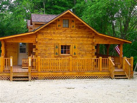hunters hollow 2 bedroom log cabin iowa cabin rentals