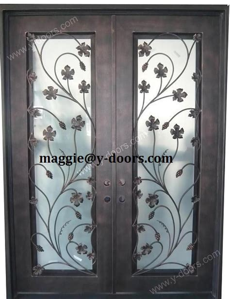 main door flower designs new flower wrought iron double door design steel entry