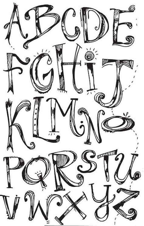 printable hand lettering fonts 7 best images of printable alphabets hand lettering hand