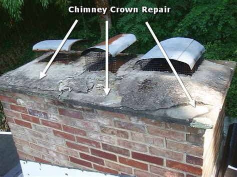 Chimney Mortar Cap Repair - md chimney crown chimney crown repair chimney cap
