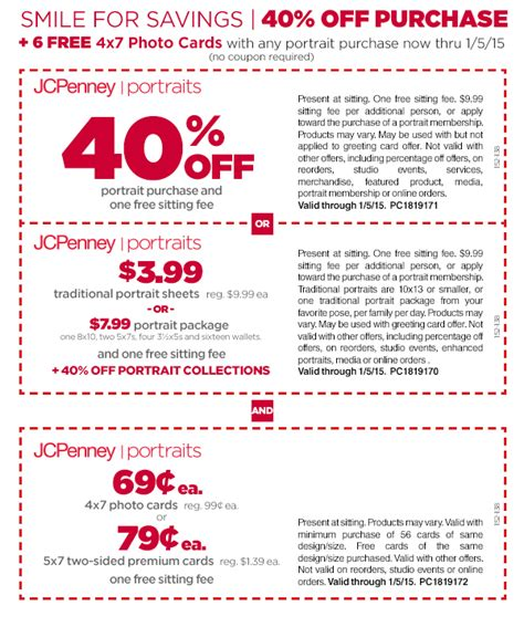 jcpenney printable coupons photo studio coupons jcpenney portraits mid mo wheels and deals