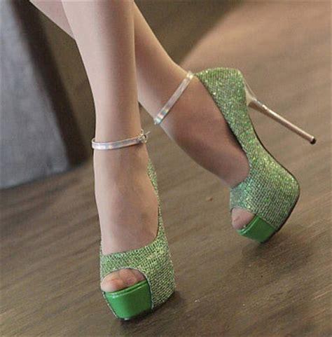 green glitter high heels green glitter fish high heels sws12065