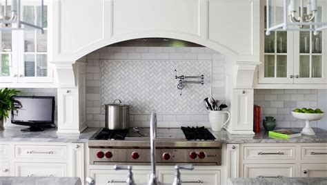 great backsplash subway tile simple hood and herringbone marble herringbone backsplash transitional kitchen