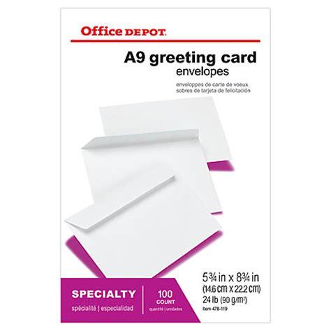 Office Depot Coupons Envelopes Office Depot Brand Greeting Card Envelopes 5 34 X 8 34