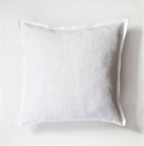 Linen Pillow Cases by White Sham Fabric Pillow Cover Decorative