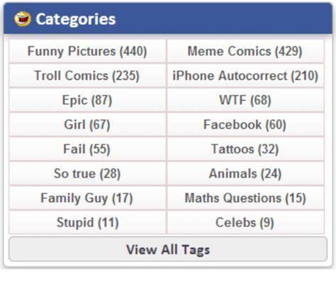 Meme Categories - categories funny pictures 440 meme comics 429 troll comics