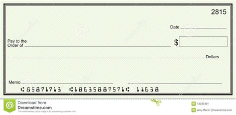 Large Blank Check Green Security Background Stock Image Image Accounting Instruction Large Check Template