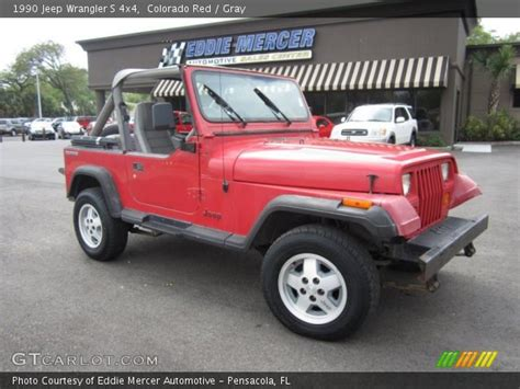 1990 jeep wrangler interior colorado 1990 jeep wrangler s 4x4 gray interior