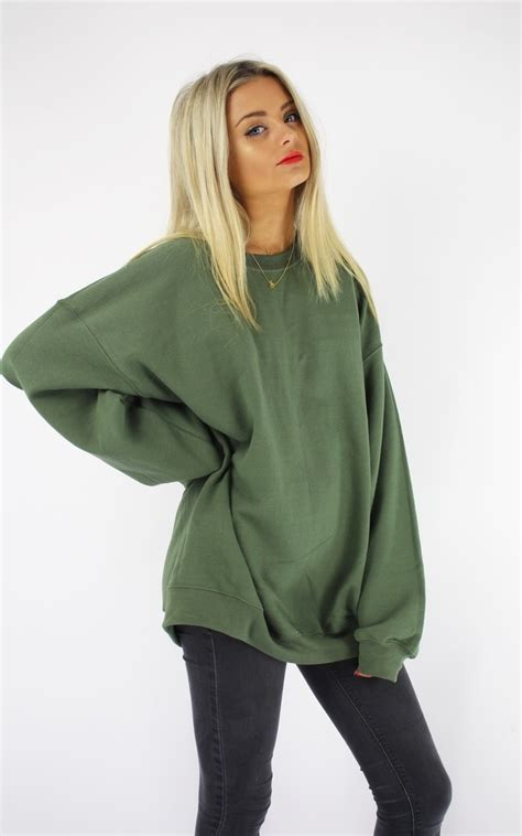 Sale Basic Cardigan M Murah Bagus Hits oversized boyfriend sweater khaki silkfred