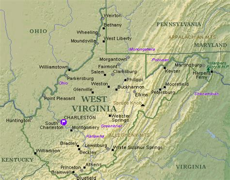 show me a map of virginia west virginia