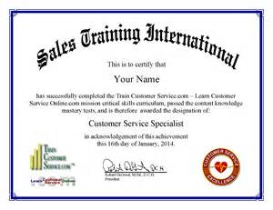 call center customer service certificate