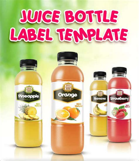 energy drink label template 6 juice bottle label templates free printable psd word