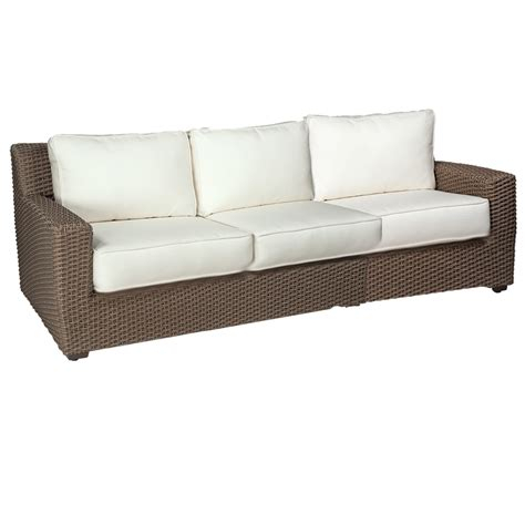 woodard patio furniture reviews woodard augusta wicker sofa s592031