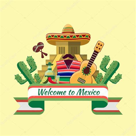 welcome to mexico poster stock vector 169 mssa 72127417
