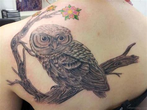 owl back tattoo 50 glossy owl tattoos on back