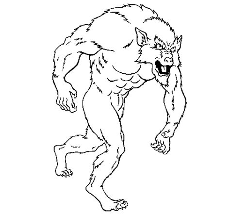 werewolf coloring pages online werewolf coloring page coloringcrew com