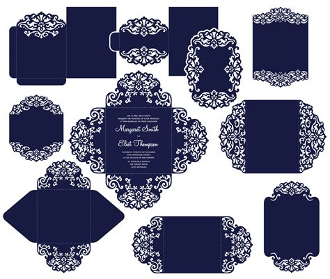 cricut card templates big set cricut wedding invitation template gate fold card