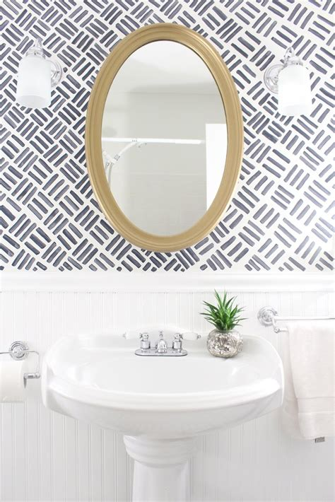 fitting your own bathroom paint your own wallpaper diy bathroom updates popsugar home photo 5