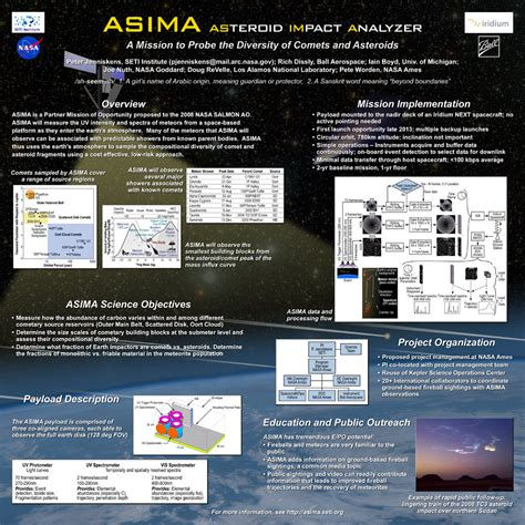Engineering Briefprobe Asteroid Impact Analyzer Asima