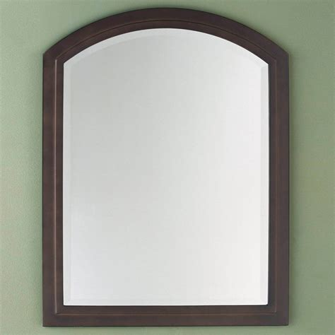 oil rubbed bronze bathroom mirror boulevard oil rubbed bronze arched vanity wall mirror