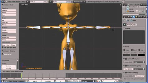 tutorial blender armature blender tutorial connecting a skin to a motion capture