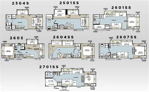 Rockwood Travel Trailer Floor Plans by Forest River Rockwood Travel Trailer Floorplans