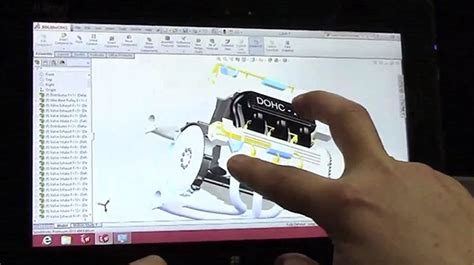 solidworks 2013 on a touchscreen windows 8 tablet video