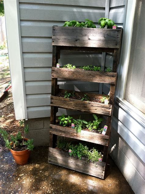 herb garden diy pallet herb garden is the solution for limited space