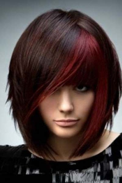 what is hair chunking dark brown hair with red chunking color hair tips