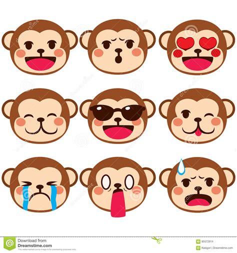 imagenes del emoji del mono expresiones de emoji del mono ilustraci 243 n del vector