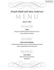 wedding menu choice template gratis print wedding menu skabeloner det ebernie