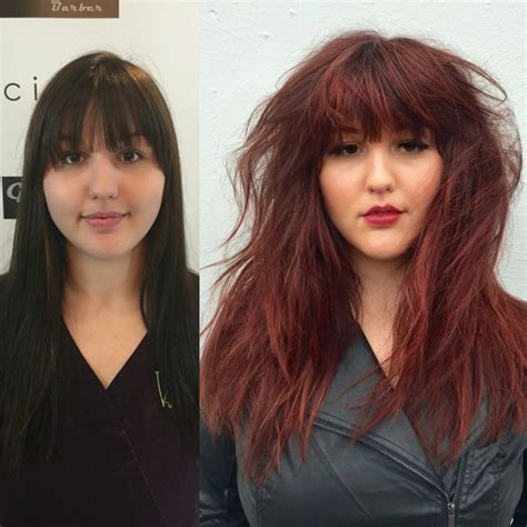 before and after pics of bangs with long hair 17 best images about hair by morgan oreeda at cielo salon