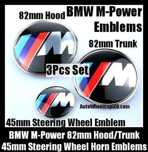 Emblem Stir Bmw M Power 45mm bmw m power emblems 82mm trunk steering wheel horn