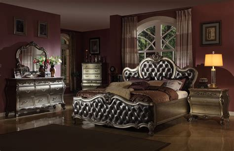 Mcferran Bedroom Set by Mcferran Bordeaux Platinum B8302 Bedroom Set