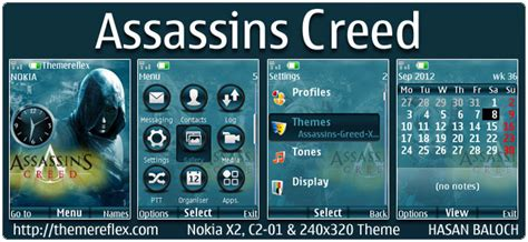 beautiful girl themes nth assassin s creed theme for nokia x2 c2 01 240 215 320