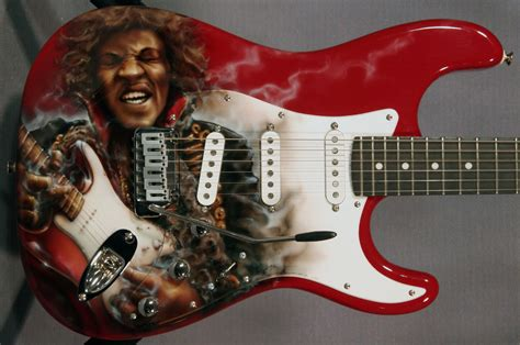 pearlcaster guitar with jimi custom paint ed guitars