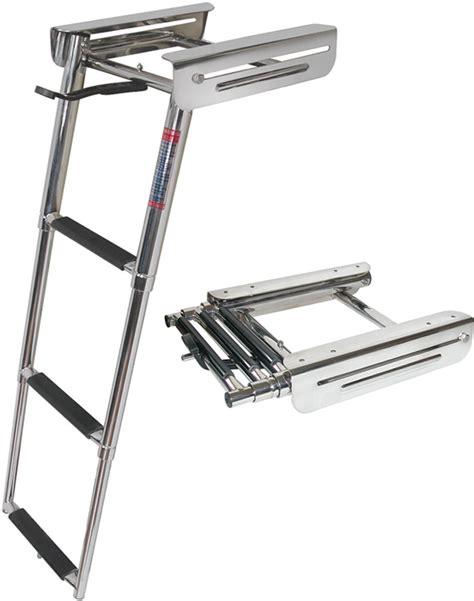 boat swim ladder strap platform ladder 3 step 34 5 quot fog3 jif marine ladders