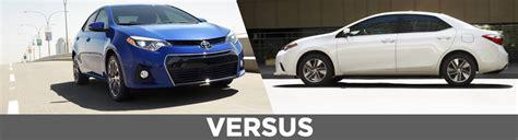 Toyota Model Comparison Compare 2016 Toyota Corolla Le Vs Corolla S Features Details