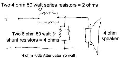 shunt resistor attenuator regis s oline guitar attenuator