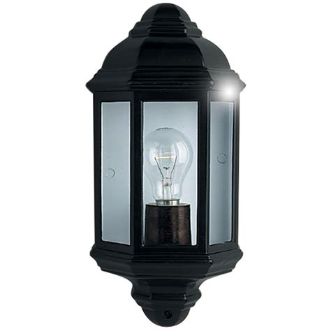 Searchlight Black Outdoor Flush Wall Light Outdoor Black Light