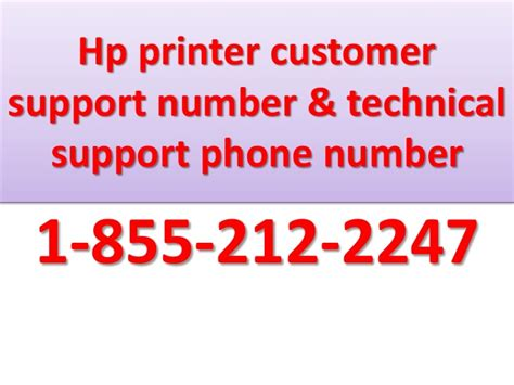 customer support phone number contact number 1 855 212 2247 hp printer customer support number te