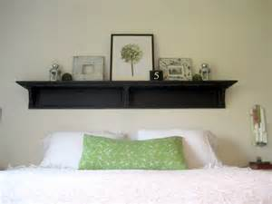 Headboard With Shelf Happy At Home Headboard Shelf Reveal