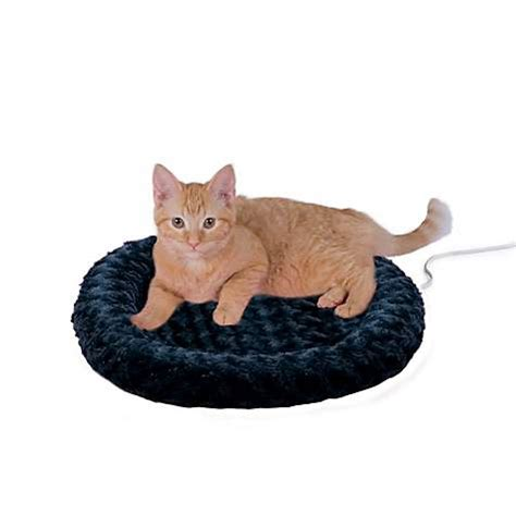 k h thermo kitty heated cat bed k h thermo kitty fashion splash blue heated cat bed petco