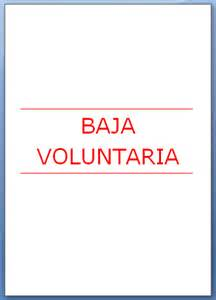 carta modelo de baja modelo de comunicaci 211 n de baja voluntaria de derecho laboral