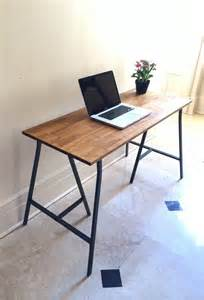 Long Desk Table 48x20 Long Narrow Desk Table On Ikea Legs By Goldenrulenyc
