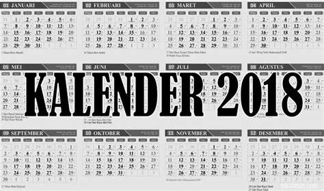 Kalender 2018 Indonesia Bahasa Inggris Donlowad Kalender 2018 File Cdr Coreldraw Gratis Lengkap