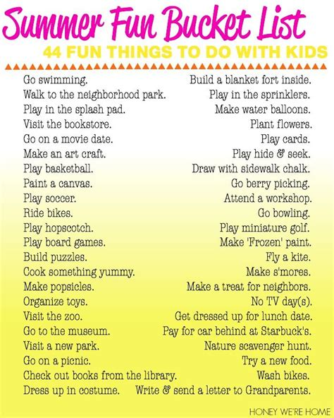 summer list 44 things to do with pictures