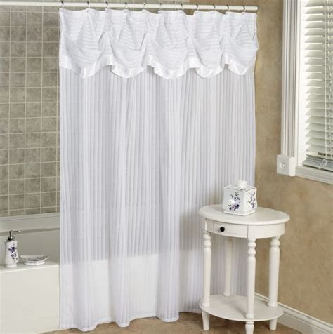 elegant bathroom shower curtains elegant fabric shower curtains with valance curtain